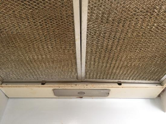 Dirty Exhaust Hood ~ Dirty range hood picture of bribie island caravan park