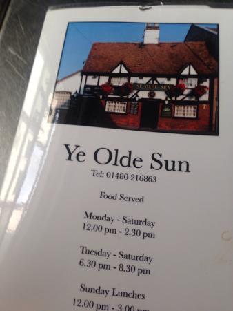 Ye Olde Sun