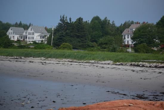 Prospect Harbor, ME: View of the Inn from the private beach