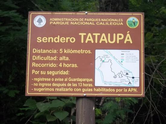 Calilegua, Argentina: Inicio del Sendero Tataupá