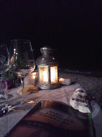 Sulla spiaggia a lume di candela! - Picture of Ristorante Bagni Al ...