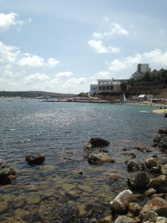 Edge of private beach