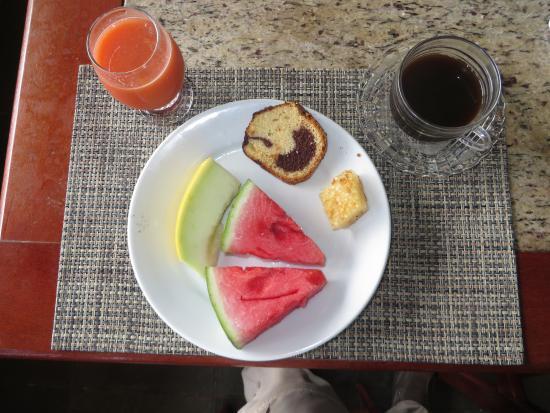 Hotel Cuca Legal : Frühstück mit frischem Obst