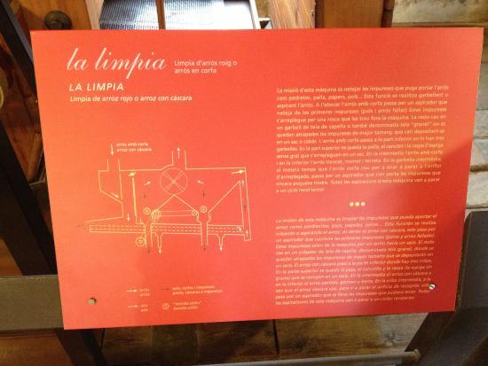 Museo del Arroz: Spiegazioni all'interno del museo