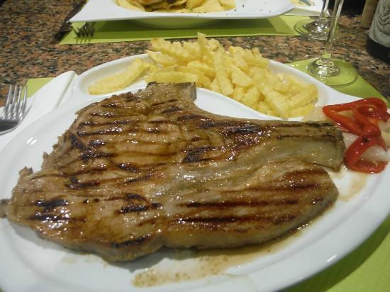 A Guarda, Espanha: Chuleta de ternera