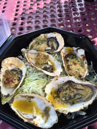 Bbq oysters with jalape o bacon delish picture of for Giovanni s fish market
