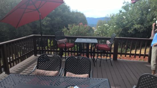 Ahwahnee, Kalifornien: View from Deck where breakfast was served