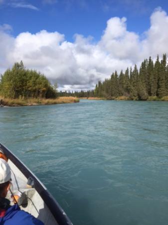 Kasilof river picture of alaska fishing lodge soldotna for Kenai river fishing lodges