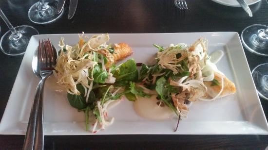 Top Floor Bar & Restaurant: Hovedrett 1: pannestekt kveite med blomkålpure og fennikelsalat