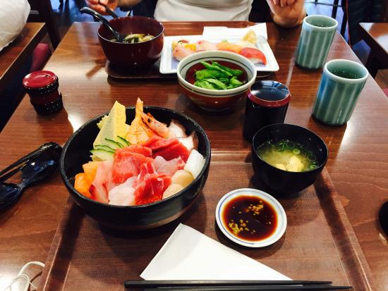 Chirashi- delicious and quite large