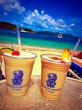 The Ritz Carlton Drinks On Beach