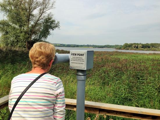 Somerset, UK: A well placed telescope to view Chew Valley Lake
