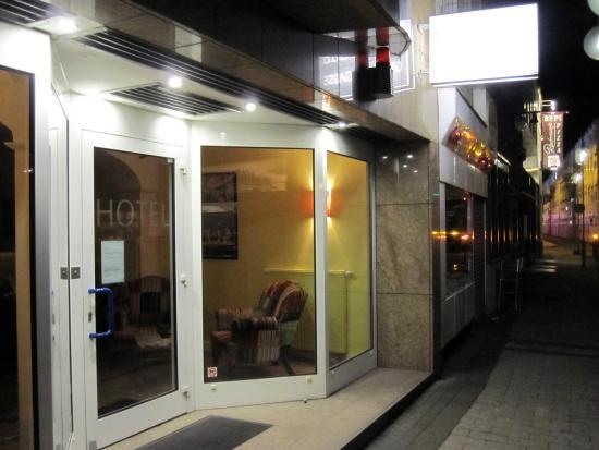 Entrance door to Hotel Glockengasse