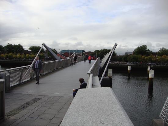 Sean O'Casey Bridge: View on bridge