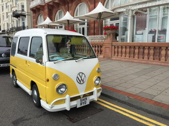 mini vw camper van outside metropole brighton picture of hilton brighton metropole brighton. Black Bedroom Furniture Sets. Home Design Ideas