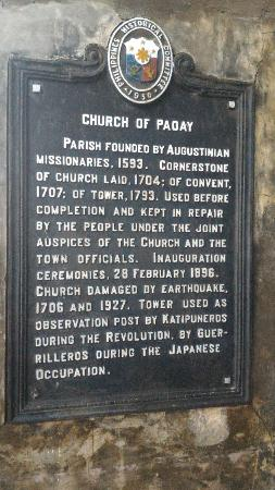Paoay Church: Church of Paoay Sign