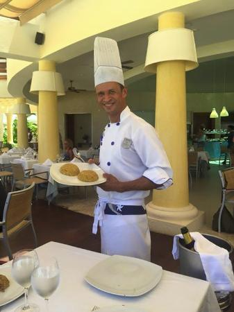 Iberostar Grand Bavaro: Amazing Chef Hilario just one of the delicious treats he prepared for us..