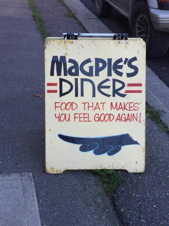Magpie's Diner: Assorted views of interior and exterior Magpies  , Powell River, BC