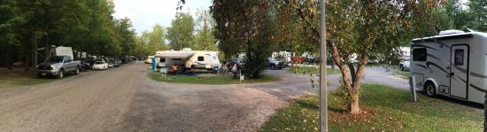 Watkins Glen-Corning KOA Camping Resort: Trailer sites in campgrounds