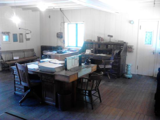Grass Valley, CA: Interior of one of the mine offices