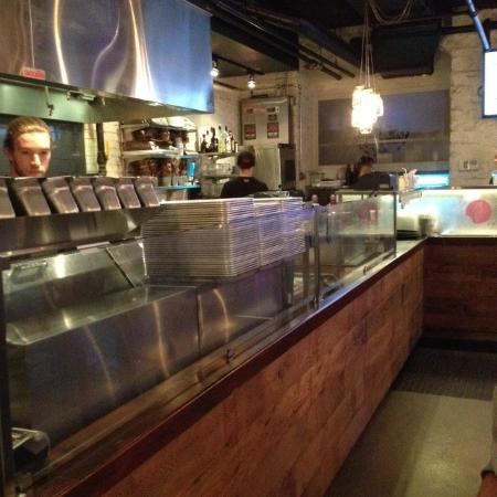 Order Counter Picture Of Le Chic Shack Quebec City Tripadvisor