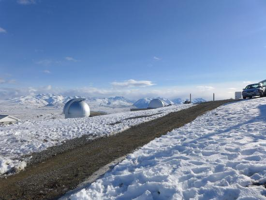 Mount John University Observatory: That's one of the dome with the telescope.