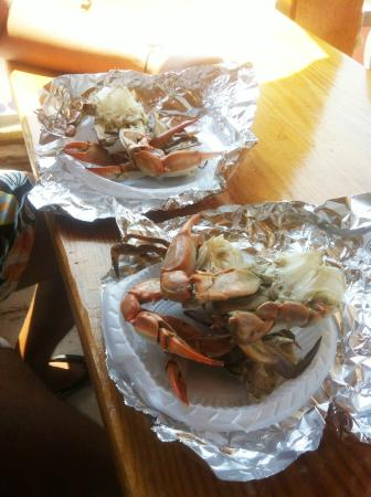 Dalyan River: blue crab on plate delicious