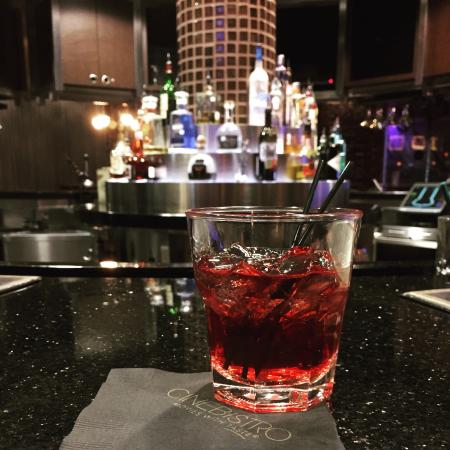 CineBistro at Peninsula Town Center: Bar selection; pre movie tipple. Cranberry and Amaretto