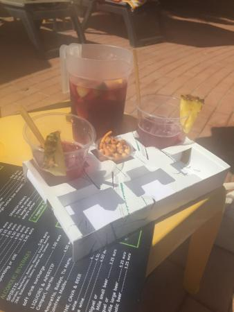 Marriott's Playa Andaluza: Sangria pitcher delivered to us