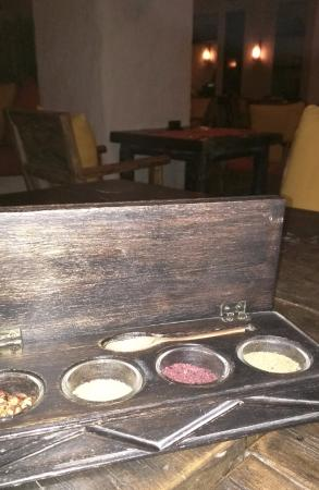 Six Senses Zighy Bay: The infested box of spices at Spice Market