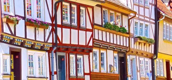 Muhlhausen, Germany: Buntes Fachwerk in Mühlhasuen