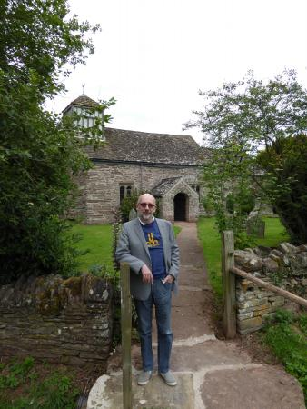 Llangua, UK: View from the gate towards St James'