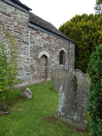 Llangua, UK: View od St James' from the grave yard