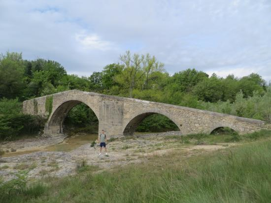 "Mas du Pont roman : The ""pont roman"" in the hotel grounds"
