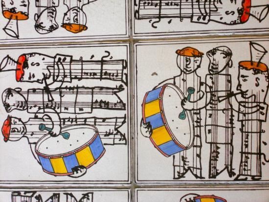 M Gallery Palazzo Caracciolo: Faïences frises des musiciens