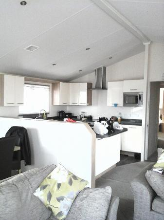 Kessingland Beach Holiday Park - Park Resorts: Fitted Kitchen, with washing machine, dish washer, fridge & freezer  plus gas oven and microwave