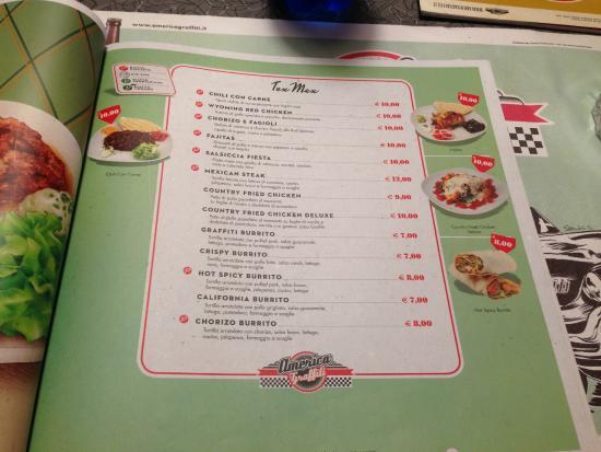 Menu 39 picture of america graffiti diner restaurant for American cuisine menu