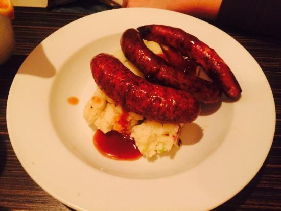 sausages mash and gravy again