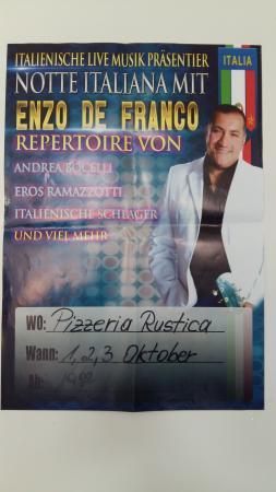 Pizzeria Rustica Da Giovanni: Notte Italiana mit Enzo de Franco