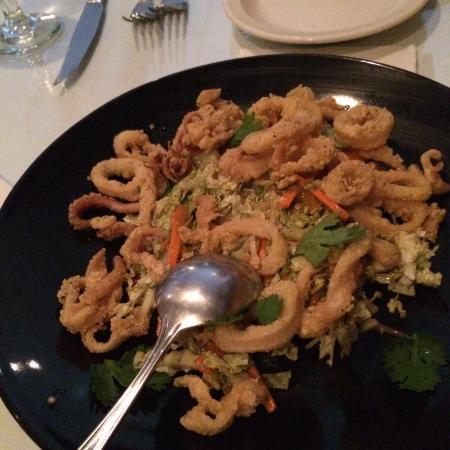 Shady Grove: Crispy Calimari on a spicy Asian slaw