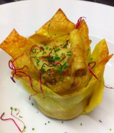Sadoll Restaurant: Lasaña de setas, azafrán y parmesano.