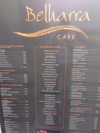 Speisekarte Cafe Paris Hamburg