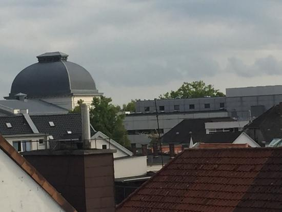 Close-up from balcony of Altera Hotel in Oldenburg