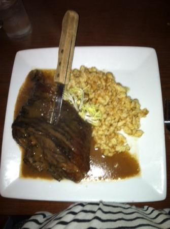 The Student Prince Cafe & The Fort Dining Room : oven roasted pork shank