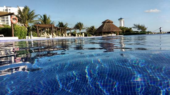 from the pool picture of amara cancun beachfront condos cancun