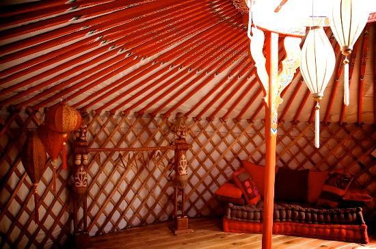 Casa Valle de Oro: interieur van de Oriëntaalse yurt