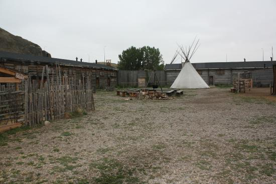 Fort Whoop-Up Trading Post Museum: outside in Fort Courtyard area