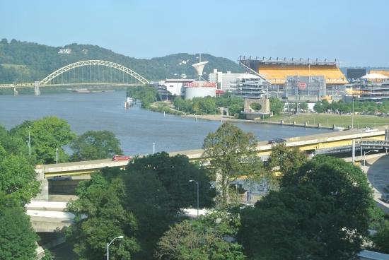 view of rivers and stadium from hotel picture of wyndham. Black Bedroom Furniture Sets. Home Design Ideas