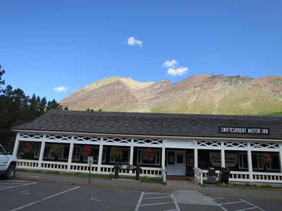 Mountain Picture Of Swiftcurrent Motor Inn And Cabins