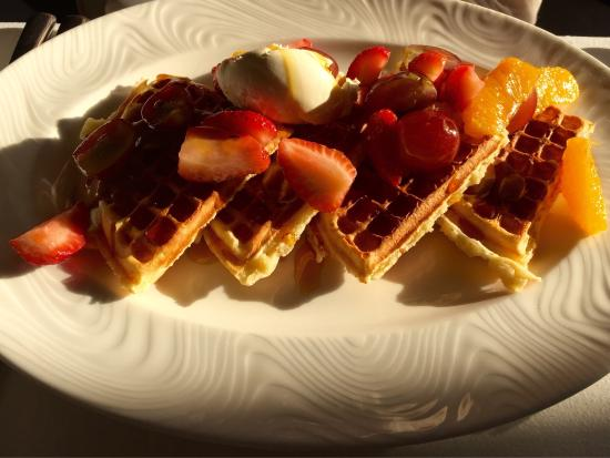 54 on Bath: Mary had to have the chocolate waffles every morning for breakfast.  For dinner we loved the bee